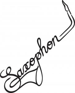 logo12 saxophon schriftzug